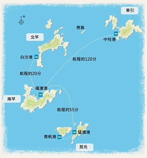 馬祖各島位置圖