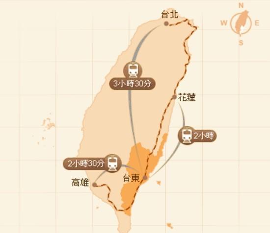 臺東縣航空地理位置圖3