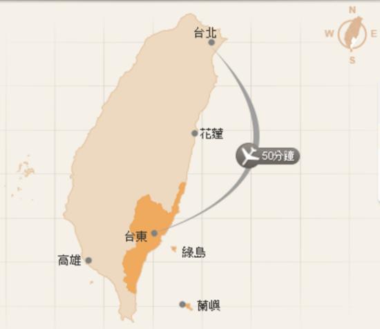 臺東縣航空地理位置圖2