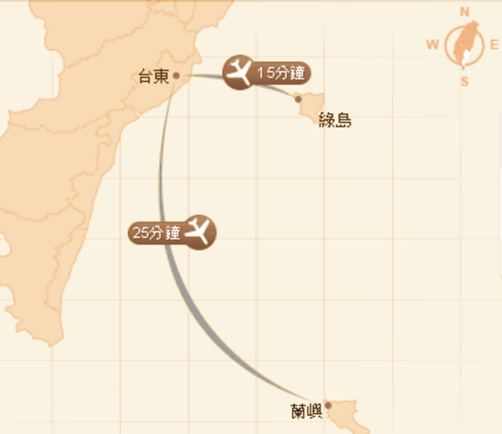 臺東縣航空地理位置圖1